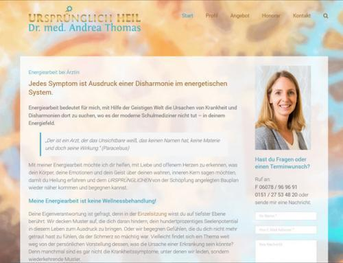 Dr. med. Andrea Thomas, Energiearbeit und Traumabehandlung