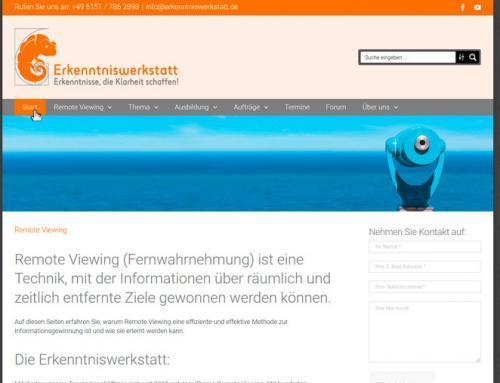 Stephan Becker, Remote Viewing, Erkenntniswerkstatt